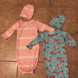 Bundle of 2 sleepers with hats